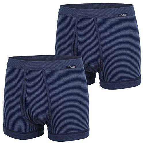 AMMANN ® 2er Pack Hose kurz mit Eingriff, Boxershorts, Pants, Boxer, Shorts (9 / (XXXL), dunkelblau)