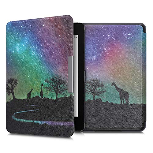 kwmobile Carcasa Compatible con Amazon Kindle Paperwhite (10. Gen - 2018) - Funda para Libro electrónico con Solapa - Noche en la Sabana