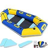 Kayaks y piraguas de mar Barco De Viaje Familiar Al Aire Libre para 2-6 Personas, Tabla De Surf De Aventura En El Mar, Bote Inflable para Piscina, Kayak De Travesía para Adultos Y Niños