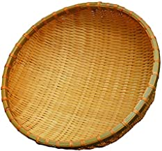 SMKF Small Kichen Baskets for Bread, Fruits and Veggies Pure Natural Bamboo Basket (12-inch)