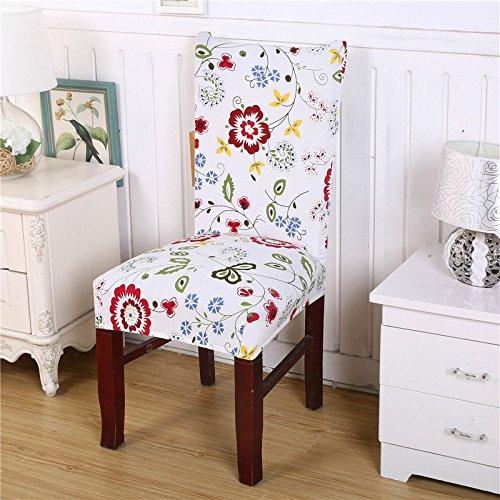 Bazaar Honana amovible de la mode chaise de la chaise couvrir siège du protecteur Cérémonie d'hôtel Dining Room Decor