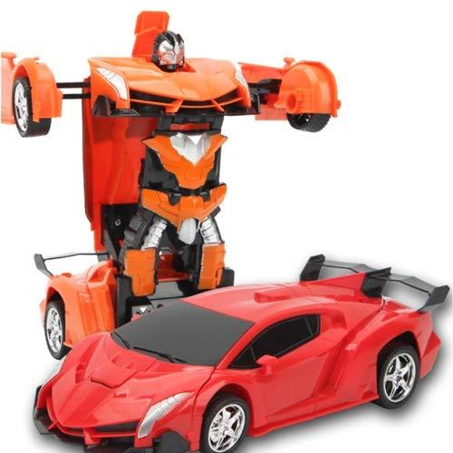 Lihgfw Große Verformung Wireless Fernbedienung Auto König Kong Racing Spielzeug Auto Roboter Laden Kinder 2-15 Jahre alt (Color : Orange, Größe : 4 Batteries)