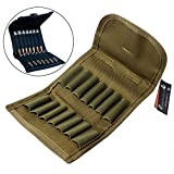 CyberDyer Molle EDC Rifle Ammo Bag Utility Hunting Rifle Magazine Pouch 14 Rifle Shells Cartridge Carrier Case (Army Green)
