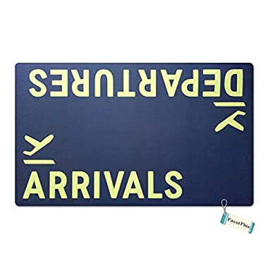 FavorPlus Departures Arrivals Airplane Funny Entrance Custom Doormat Door Mat Machine Washable Rug Non Slip Mats Bathroom Kitchen Decor Area Rug 15.7X23.6 Inch