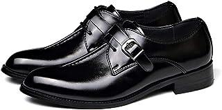 Hommes Casual Cuir Oxford Affaires Monk Strap Slrap On Travail Mocassins Conducteurs Chaussures De Marche Boucle Bateau Mo...