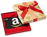 Carte cadeau Amazon.fr - €100 - Dans un coffret Cœurs Dorés