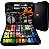 Elite Range Professional Sewing Kit XXL Portable Sewing Accessories Bag Includes Tailor Scissors, 36 Threads, 30 Needles and Many More Supplies for Travel, Home, Beginners, Emergency, Adults and Kids
