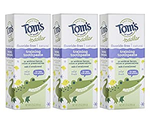 TASTE THEY LOVE: Contains 6 - 1.75-ounce tubes of toddler toothpaste in a Mild Fruit flavor that will keep toddlers brushing FLUORIDE-FREE: Toms toothpaste for toddlers is fluoride-free, meaning it is safe if swallowed and is specially formulated for...