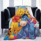 MONYO Winnie-The-Pooh Bear Tigger Blanket, Super Soft Light Plush Bed Blanket, Suitable for Adults and Children to Use 50'x40'Inch