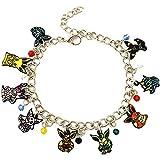 Fandom Enthusiast Eevee Evolutions Charm Bracelet Gifts for Girl Woman (Eevee Evolutions 1)