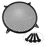DGZZI 12Inch SubWoofer Plastic Mesh Cover Car Audio Waffle Speaker Grill Protect Guard with 4PCS Grill Clamps and 4PCS Screws