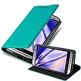 Cadorabo Funda Libro para HTC One M8 en Turquesa Petrol - Cubierta Proteccíon con Cierre Magnético, Tarjetero y Función de Suporte - Etui Case Cover Carcasa