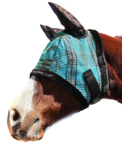 Kensington Horse Fly Mask with Protective Mesh and Plush Fleece Ears- Protection from Insect Bites and Perfect for Wound Recovery