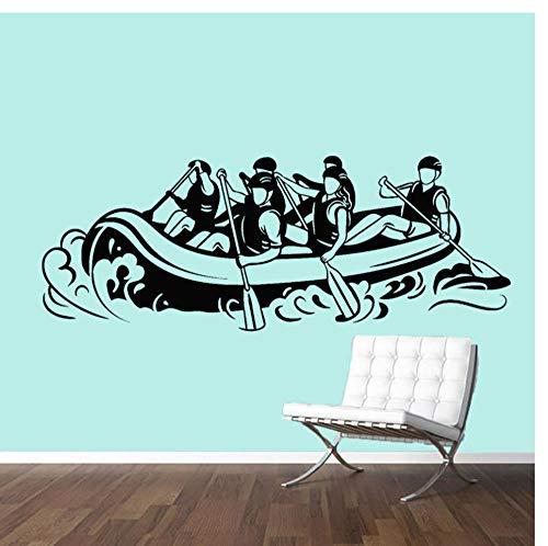 Zkpyy Muurstickers, voor woonkamer, legering, kajak, sport, peddel, muurstickers, fitnessstudio, 30 x 77 cm