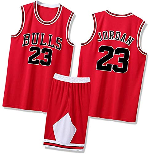 Hombres Michael Basketball Jersey #23 Jordan 1996/97 Temporada Chicago Classics Bulls Transpirable Competition Top+Shorts 1 Set - Rojo