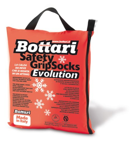 Bottari 68056 Cadenas textiles para nieve con 3 inserciones en poliuretano, Talla M, Compatible con ABS y ESP, Certificado TUV y GS Onorm