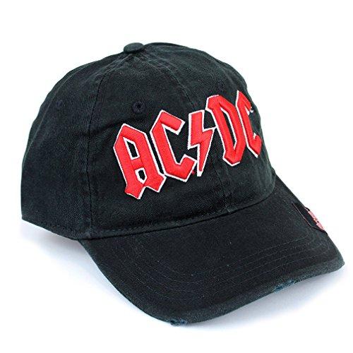 AC/DC Casquette de baseball pour homme avec logo Noir/rouge