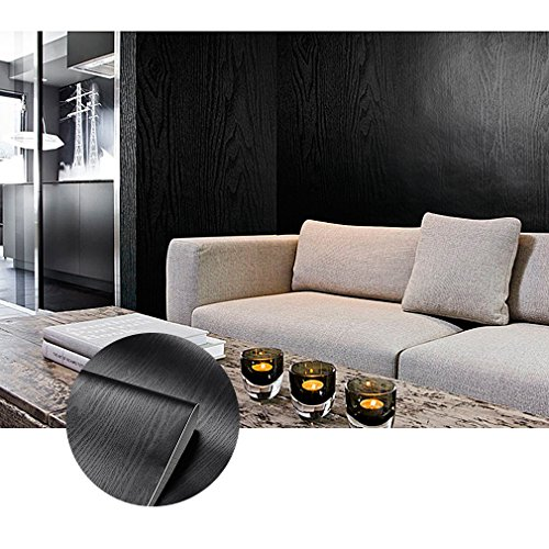 KINLO 0.3M*2M Adesiva per Mobili Finto Legno Grano PVC Impermeabile Antibatterico e Anti-umidità Wall Sticker autoadesive rinnovato mobili/Parete/Vetro/Marmo ECC(1 Rotolo)