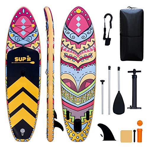 TIGERXBANG Tabla de surf de remo, 320 x 80 x 15 cm, accesorios inflables completos