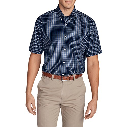 Eddie Bauer Men's Wrinkle-Free Relaxed Fit Short-Sleeve Pinpoint Oxford Shirt -
