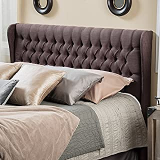 Christopher Knight Home Hempstead Wingback Queen to Full Brown Fabric Headboard