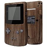 eXtremeRate Cover Scocca Tasti Custodia Pulsanti Shell Ricambio per Gameboy Color GBC Console-Compatibile con IPS V2&Standard LCD-NON Include Console&IPS Schermo(Venatura del Legno)