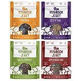 Pan's Mushroom Jerky - Shiitake Mushroom Jerky, Plant Based, Vegan, 4 Flavor Variety Pack (Original, Zesty Thai, Salt & Pepper, Applewood BBQ) 2.2 Ounces