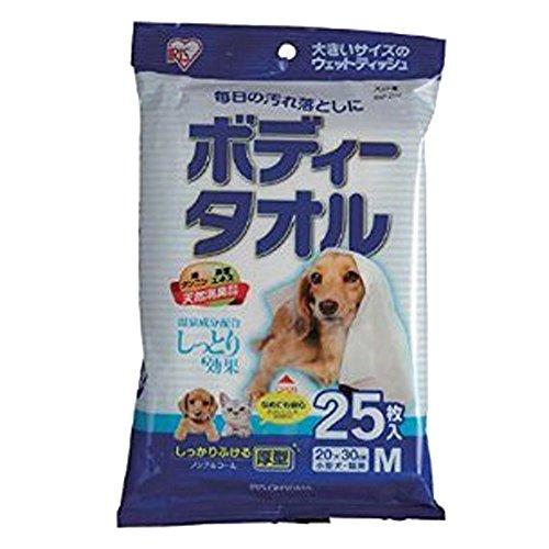 アイリスオーヤマ ボディタオル 小型犬・猫用 25枚入