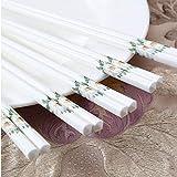 Patrón de flor de palillos reutilizables de porcelana, palillos chinos Hueso China, Cerámica Palillos Lavavajillas Caja fuerte, 5 pares Japonés Sushi Chop Gift White