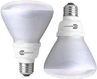 EcoSmart Soft White BR30 CFL Light Bulb, 65W Equivalent 2 Pack