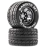 Duratrax Bandito MT 2.8 Mounted Tires, Chrome 14mm Hex(2), DTXC5251
