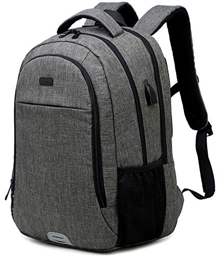 Abshoo Travel Laptop Backpack Computer Anti Theft Multi Pocket Laptops Backpack with USB Charging Port Water Resistant College School Bag for Women & Men Can Fits 15.6 Inch Laptop (Drak Grey)