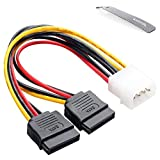 <span class='highlight'><span class='highlight'>Ganvol</span></span> Pack of 2 Molex to SATA Power Cables, Molex to 2 SATA Head, Molex Power Splitter Adapter for Old PC Power Supply Unit to Power HHD/SSD/DVD RW/Hard drive - 1013976