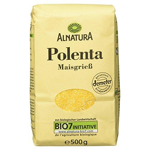 Alnatura Bio Polenta, glutenfrei, vegan, 6er Pack (6 x 500 g)