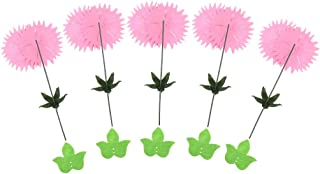 Comfortable Generous 6pcs Carnation Making Supply Handcrafts Material Kits Arts Crafts Supply Clothes/Hats/Clothes/Dress Ornaments - purple, 17cm,Colour:Pink (Color : Pink)