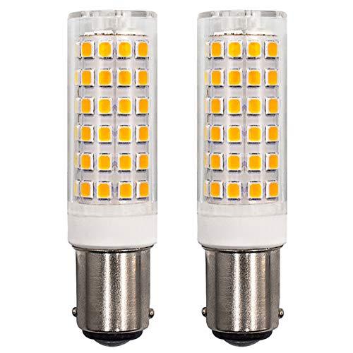 Bombilla LED regulable B15D 6 W máquina de coser bayoneta bombilla equivalente 60 W bombilla halógena AC 230 V blanco cálido 3000 K para las luces de las máquinas de coser, 2 unidades