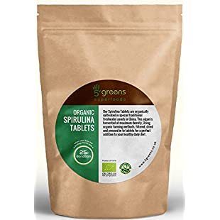 Organic Spirulina Tablets Detox Cleanse Energy Immune Booster Weight loss Superior Quality | Herbal Supplement