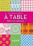 À table, 365 us et coutumes