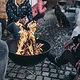 höfats - Bowl Feuerschale mit Drahtfuß - als Feuerstelle, Grill und Plancha nutzbar - für Garten...
