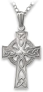 Biddy Murphy Celtic Cross Necklace Sterling Silver Single Sided Made in Ireland
