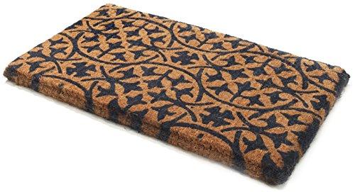 Handwoven, Extra Thick Doormat | Entryway Door mat for Patio, Front Door | Decorative All-Season | Blue Tile - Dark Navy | 24' x 36' x 1.60'