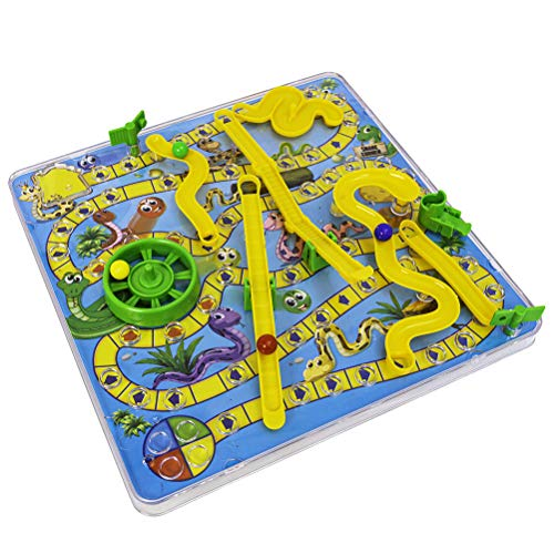 WoRamy 3D Snake Board Game Toy with Ladder Traditional Family Toy Fun Gift for Kids
