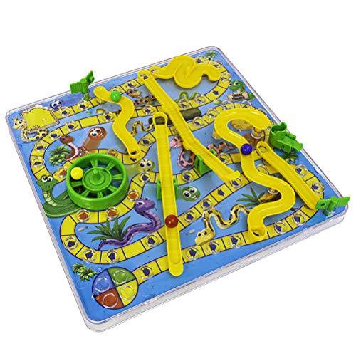 AWOME Juego de mesa de juguete, juego de mesa de serpiente 3D...