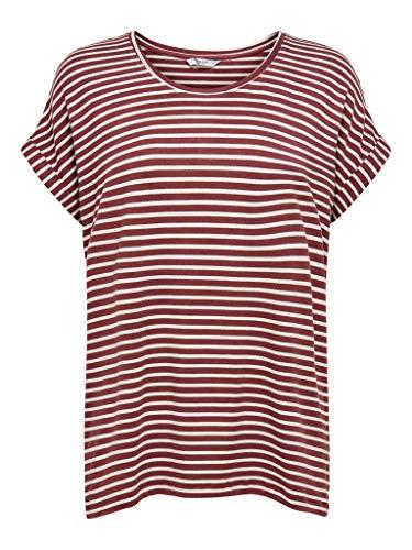 ONLY Damen ONLMOSTER New AOP S/S O-Neck TOP JRS T-Shirt, Apple Butter, S
