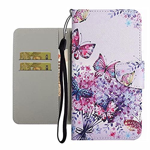 TYWZ Leuke Case voor Xiaomi Mi 10T, PU Lederen Cover voor Meisjes Vrouwen Kleurrijke Ontwerp Portemonnee Stand…