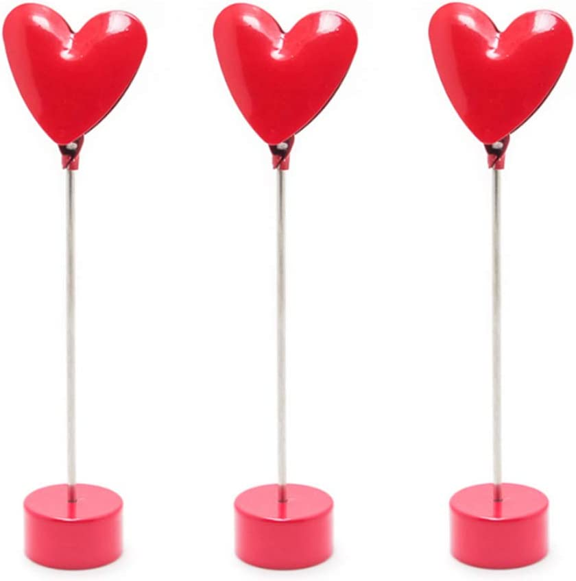 Rurili Loving Heart Baltimore Mall Memo Clip Table Max 61% OFF Place Car Holder Name Number