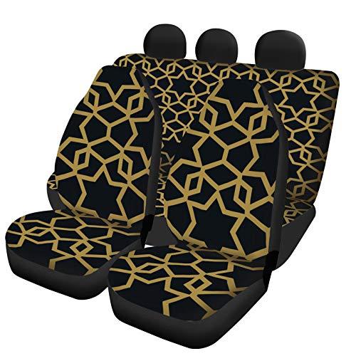 Cubiertas de Asiento de automóviles, Personalidad de Moda 5 Asiento Conjunto Completo en Forma Universal Most Car, Comfort Fit, Protector Interior del Coche,5 Seats