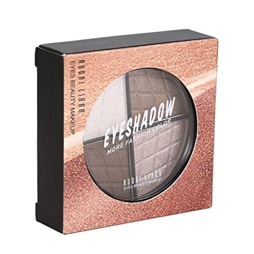 4 kleuren vrouwen oogschaduw palet langdurige oogschaduw palet glitter shimmer oogmake-up dames cosmetica tool5 #