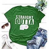 2020 Covid-19シャツSTRAIGHT OUTTAレタープリント半袖Tシャツの男性と女性、 (Color : Green, Size : S)