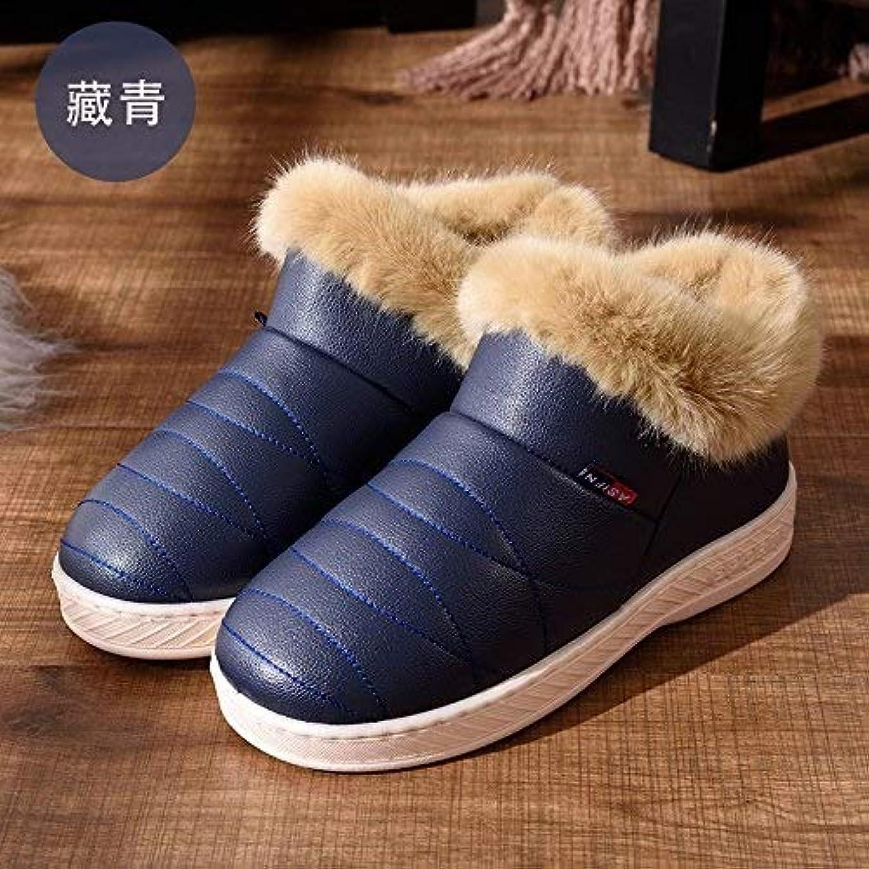 みすぼらしいジョージハンブリー眉をひそめる[QingMate] レディースアニバーサリーリング 女性のカップルの家の家の防水滑り止めの暖かい厚い男性および女性の月の綿の靴が付いている冬の綿のスリッパ袋、 (Color : High Help, サイズ : 46-47)